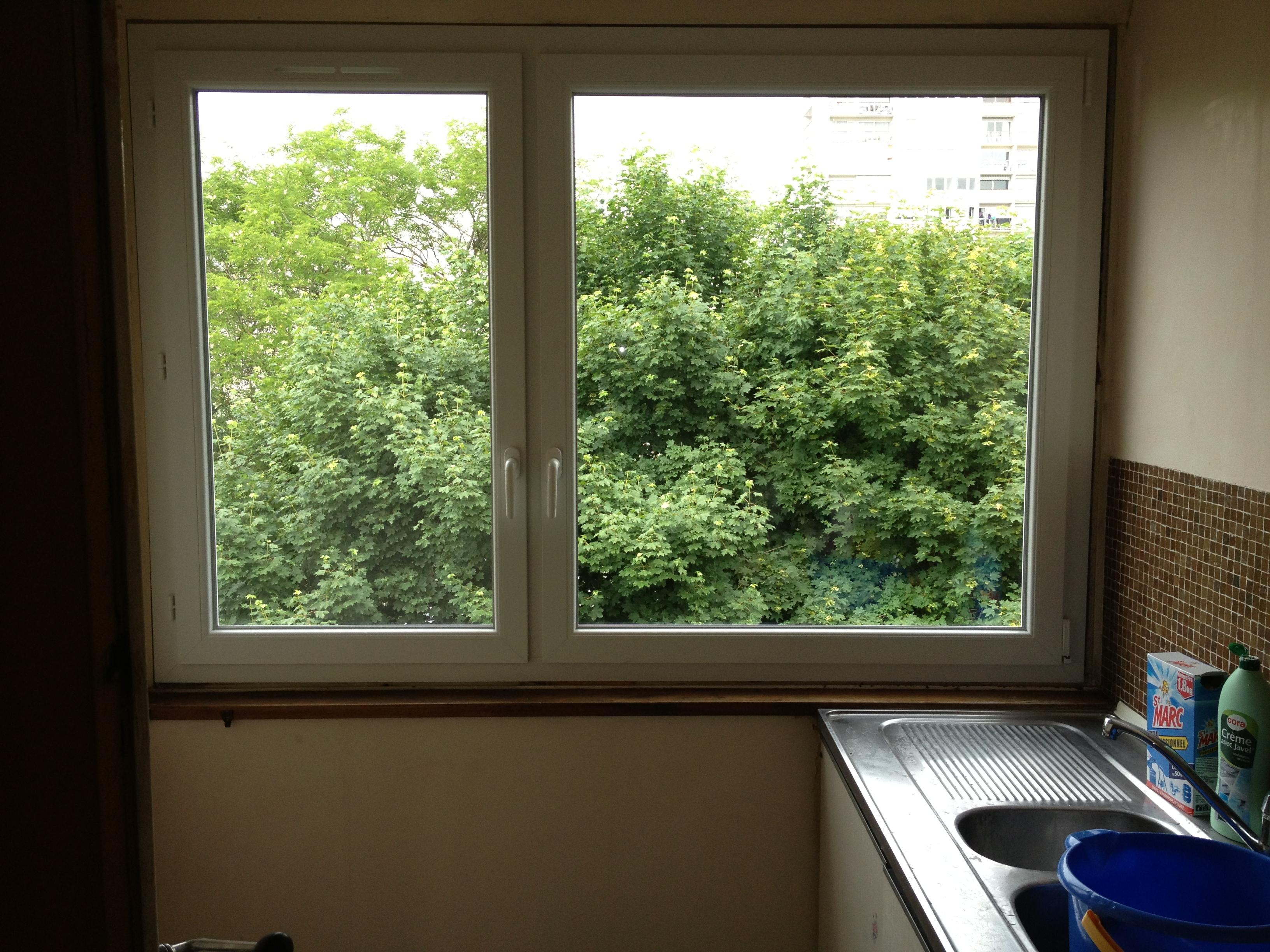 Fenêtre PVC 2 vantaux dont 1 oscillo-battant Ris Orangis 91130