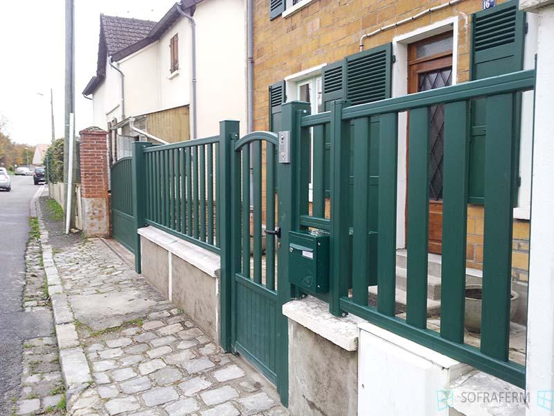 Portail et clôture aluminium SAINT CHERON 91530