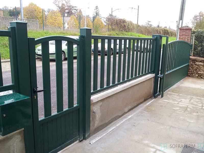 Portail et portillon aluminium SAINT CHERON 91530