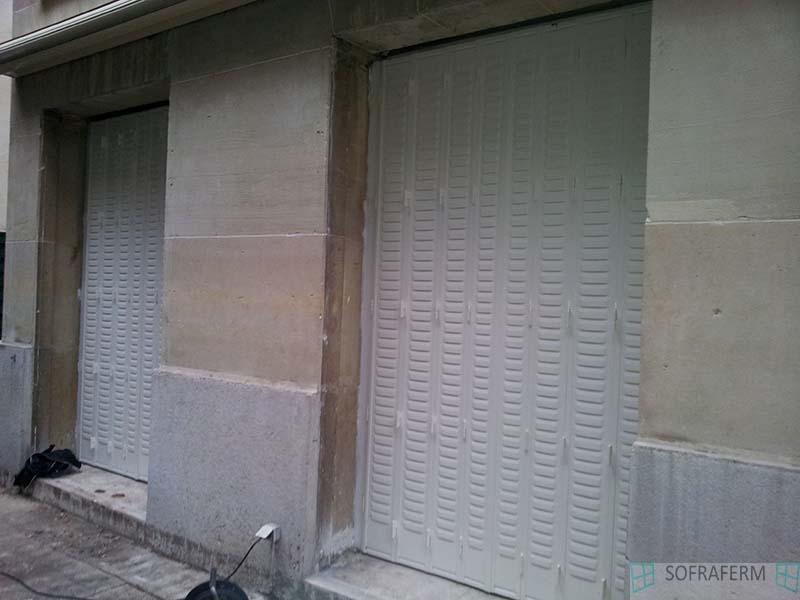 Persiennes métalliques blanches PARIS