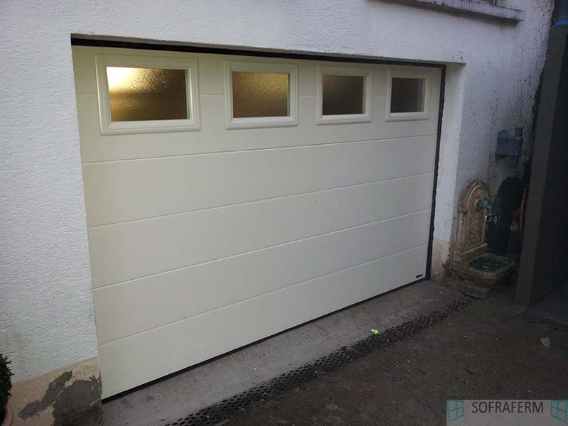 Nos r alisations sofraferm fen tres portes volets for Porte de garage 60 mm
