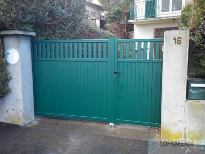 Portail aluminium manuel 91310